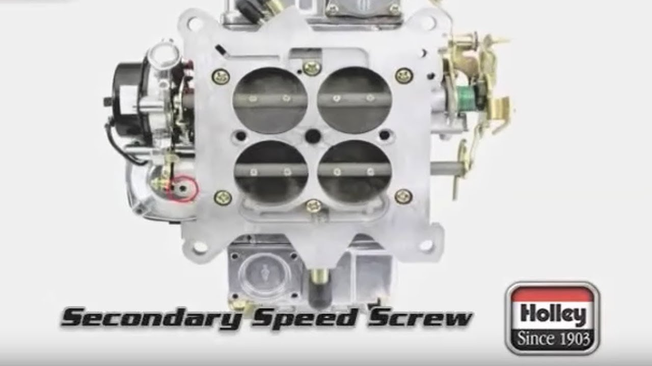 how to adjust the secondary speed screw on holley carbs [ 1280 x 720 Pixel ]