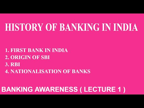 History of Banking In India | Banking Awareness | Lecture 1 | Bank Po