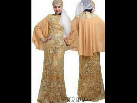 Model Baju Brokat Kombinasi Gaun Polos Dan Batik