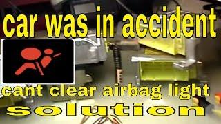 Nissan GTR Airbag Module Reset Clear Crash Data Hard /& Soft Codes