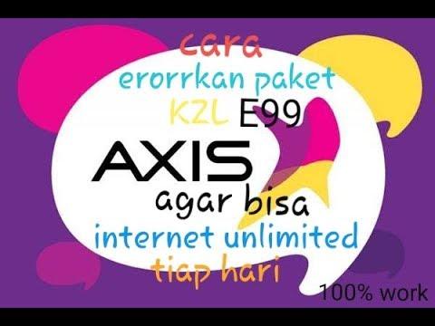 cara erorkan paket kzl axis agar bisa internetan unlimited tiap hari !!!