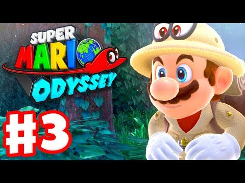 Super Mario Odyssey - Gameplay Walkthrough Part 3 - Wooded K