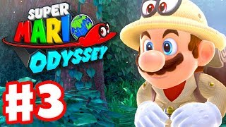 Super Mario Odyssey - Gameplay Walkthrough Part 3 - Wooded Kingdom! Steam Gardens! (Nintendo Switch)