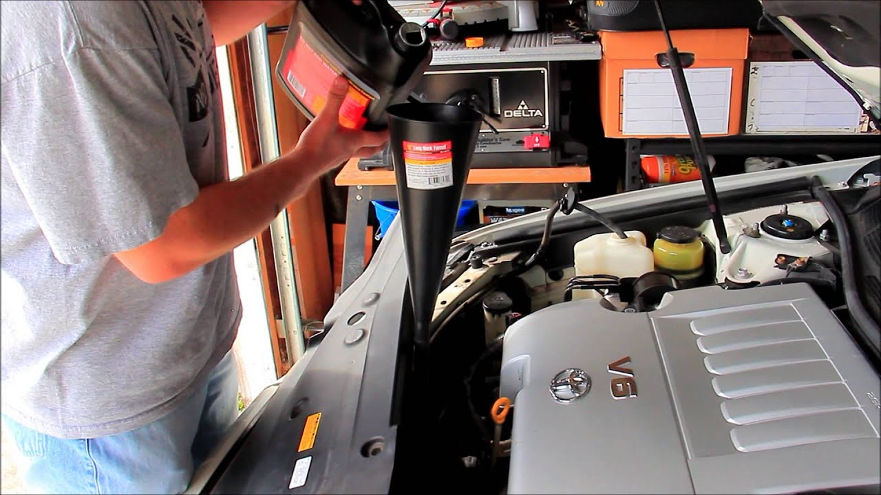Oil In Coolant >> Toyota Avalon Radiator flush NOT 100K service - YouTube