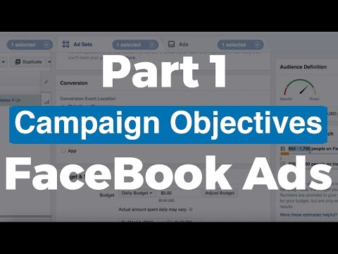 (Part 1) FaceBook Ads Training - Campaign Objective