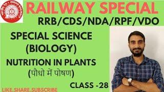 CLASS 28 SCIENCE BIOLOGY जीव विज्ञान( Nutrition In Plants )