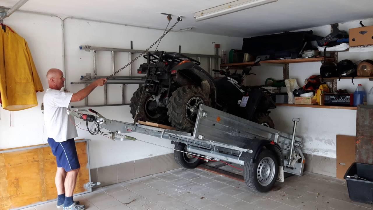 Quad anh nger und auto platzsparend in garage youtube for Garage auto quad passion