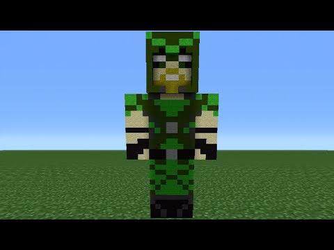 Minecraft Tutorial: How To Make A Green Arrow Statue