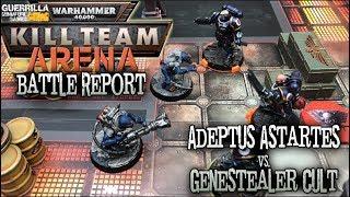Warhammer 40000 Kill Team Arena Battle Report - Adeptus Astartes vs Genestealer Cult