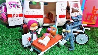 МАША И МЕДВЕДЬ СКОРАЯ ПОМОЩЬ МАЛЫШКЕ ЛОЛ. #Мультики с игрушками #Куклы ЛОЛ