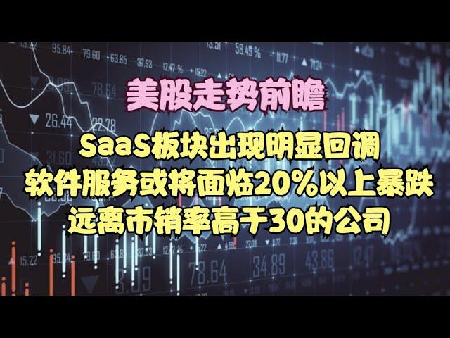 美股走势前瞻   SaaS板块出现明显回调,软件服务或将面临20%以上暴跌,远离市销率高于30的公司