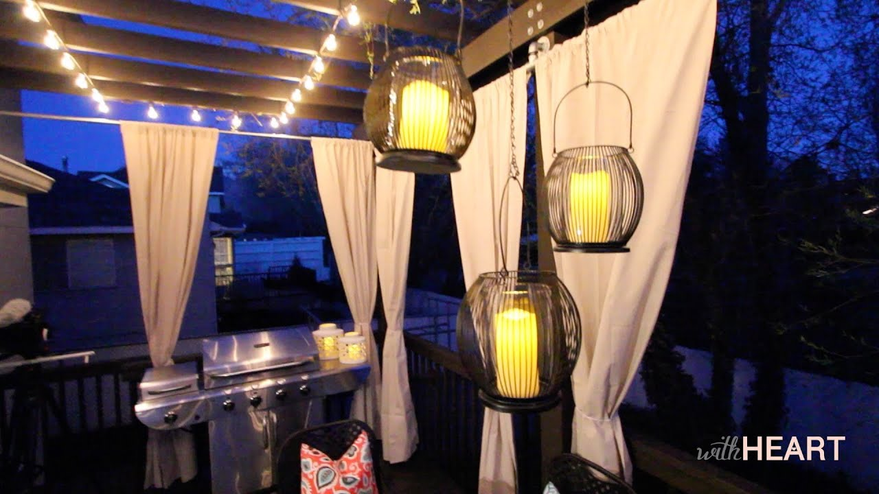 Outdoor String Lights And Hanging Lanterns | WithHEART   YouTube