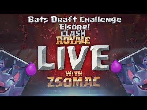 Bats Draft Challenge Elsőre | EZ SZÖRNYEN MENT! | Clash Royale Magyarul