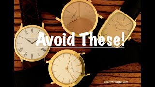 Top 5 Watches To Avoid - You May Not Want To Buy These...