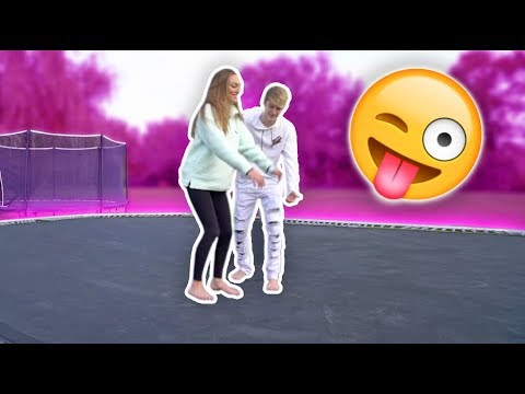 Thumbnail: I TAUGHT HER A BACKFLIP ON THE WORLD'S BIGGEST TRAMPOLINE!