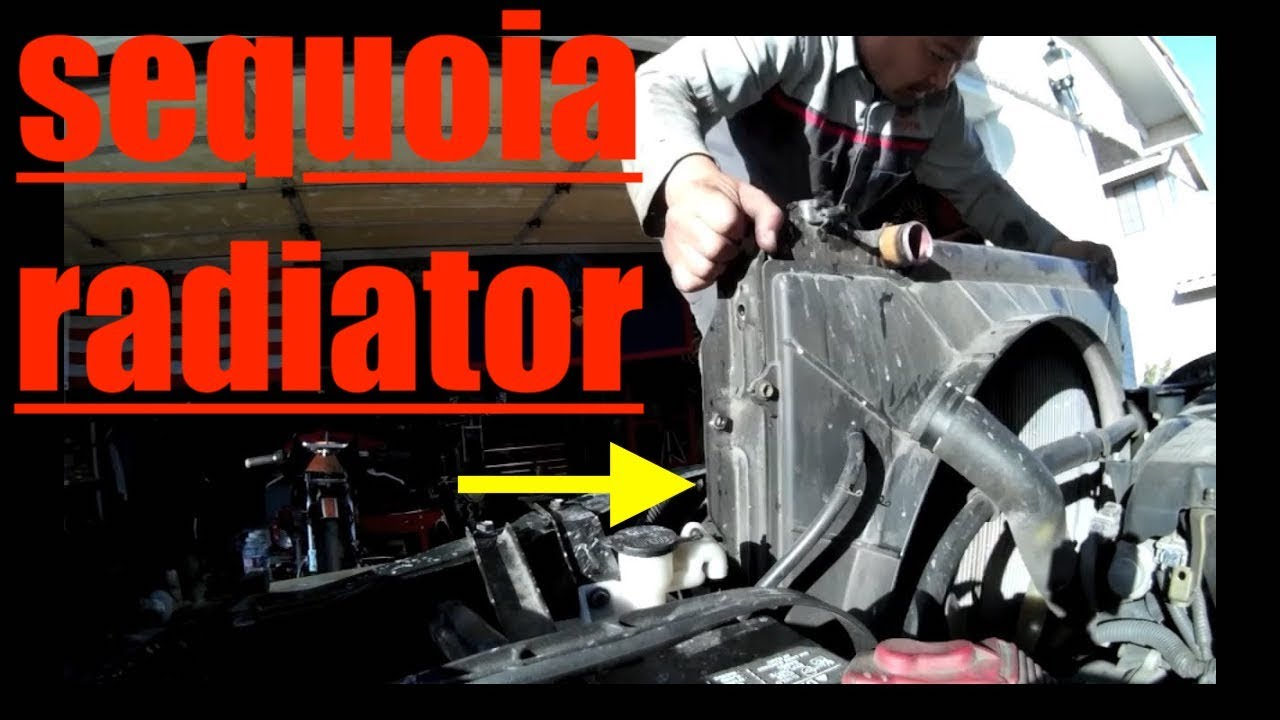 BUSTED Radiator Thermostat Replacement Toyota Sequoia
