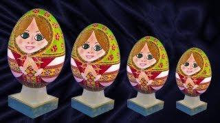 Learn How to Create Pysanky Baba Eggs - Matryoshka, Babushka, Russian Nesting Dolls Easter Ukraine
