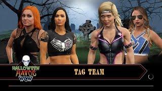 WWE 2K17 - AJ Lee and Becky Lynch VS Beth Phoenix and Emma