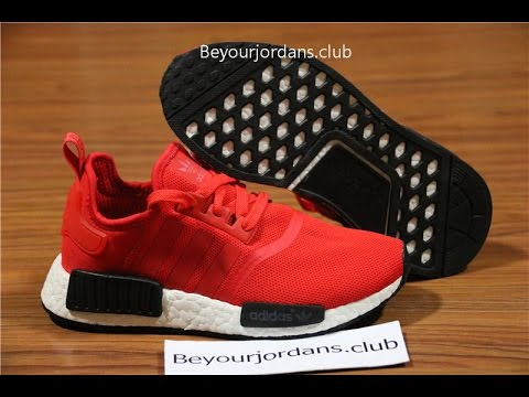 f56607e31 Adidas NMD R1 Nomad Clear Red Black White Bred BB1970 with real boost from  Beyourjordans.club