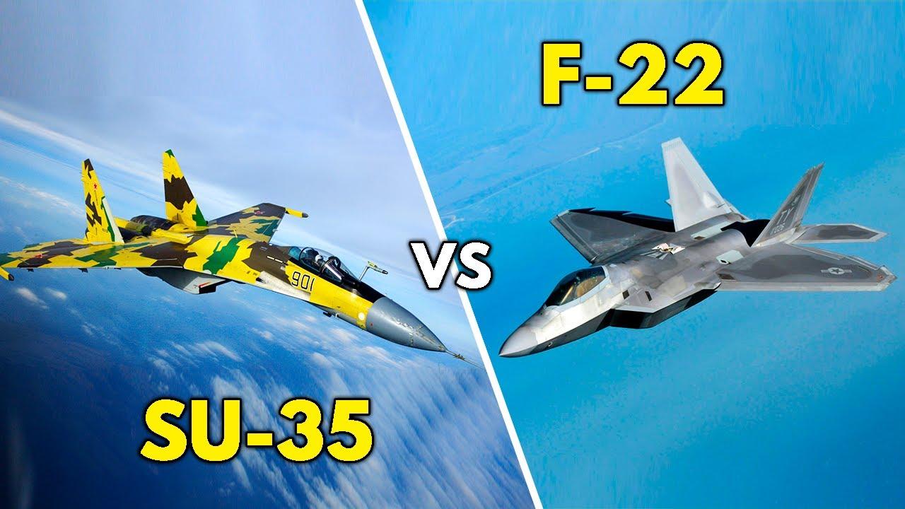 F-22 vs SU-35 | ¿Quién GANARÍA en un COMBATE AÉREO? | ¿RUSIA o ESTADOS UNIDOS?