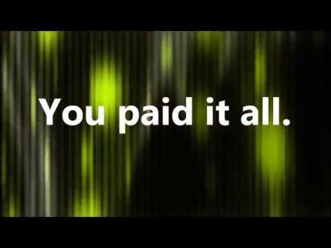 Wess Morgan - You Paid It All (Lyrics)
