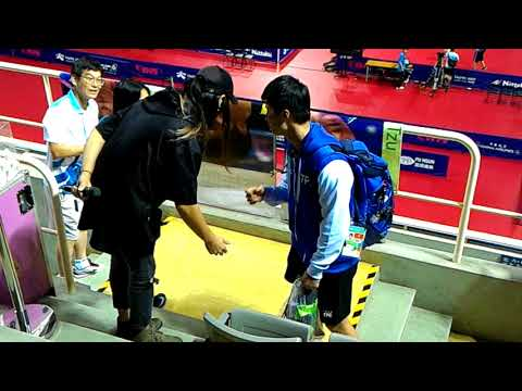 20170828 世大運桌球(Taipei Summer Universiade-table tennis) DJ J.C.& DJ H.(抽選手海報)in 新莊gym 5