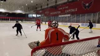 blinded veterans association washington wheelers blind hockey scrimmage