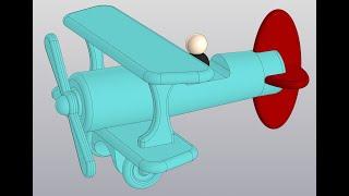 Видеоуроки Компас 3D V18. Сборка самолетика. 4 Оперения, пилот