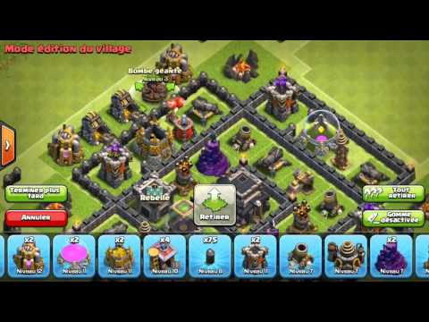 Clash of clan-Meilleur base Hdv7 Rush/Gdc