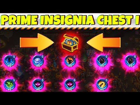 INSIGNIA PRIME CHEST I | The GOODS !!!!! | Unholy Pacts | CASTLE CLASH
