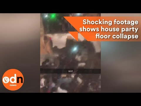 Shocking footage shows house party floor collapse injures dozens in South Carolina