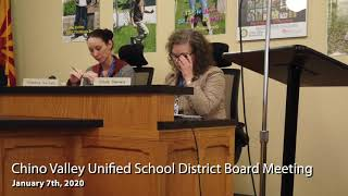 Chino Valley Unified School District Board Meeting - January 7th, 2020