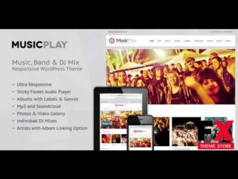 Preview MusicPlay - Music and DJ Responsive WordPress Theme