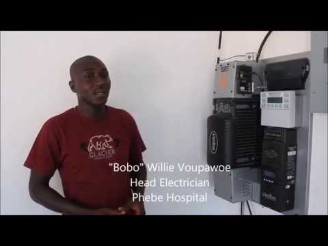 Phebe Hospital, Liberia, Head Electrician Bobo talks about solar