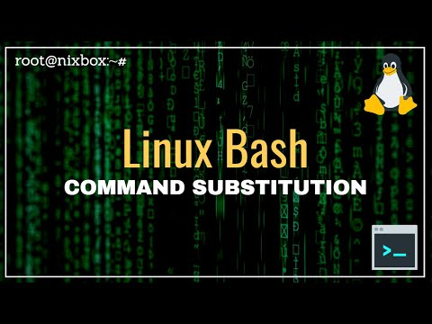 How to use Command Substitution in Bash - YouTube