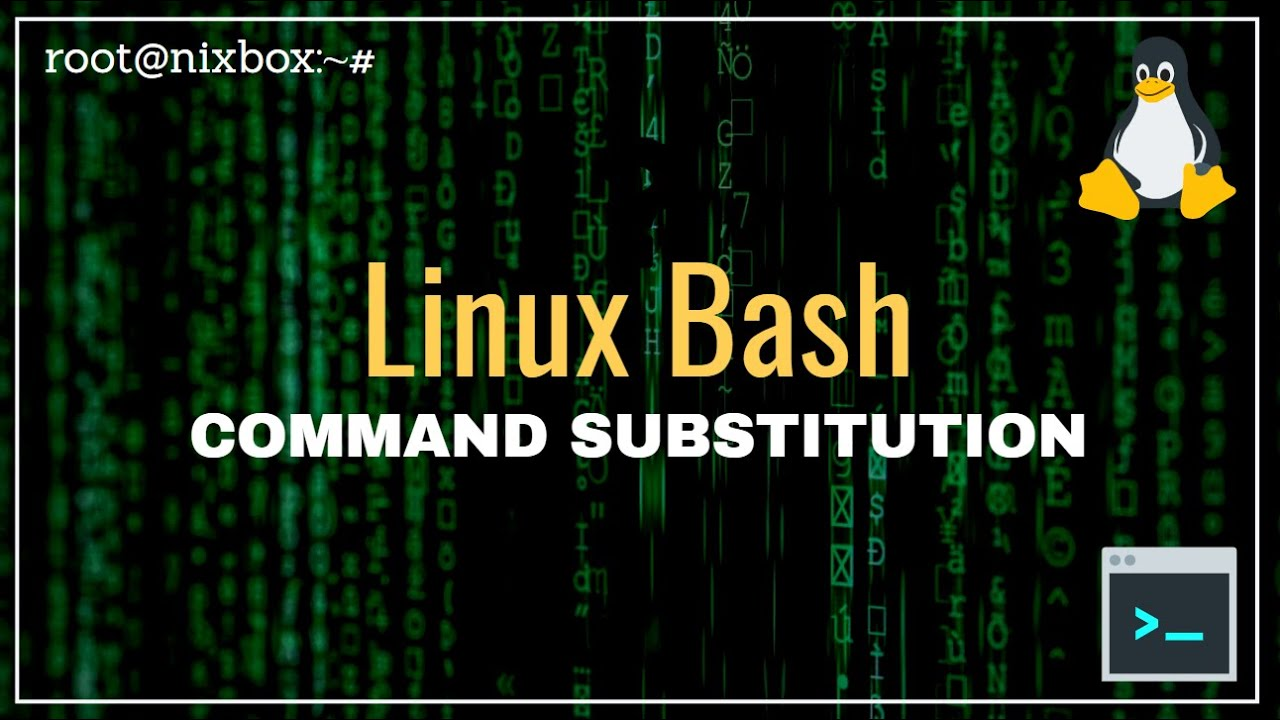 How to use Command Substitution in Bash