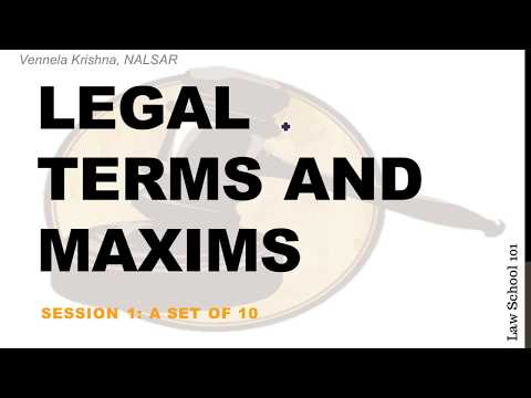 Legal Knowledge for CLAT | Legal Terms and Maxims - Session 1