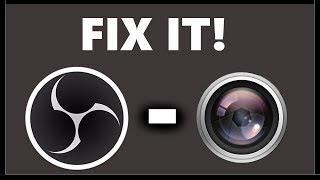 OBS Studio - Webcam wont work fix!