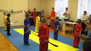 УШУ (У-ШУ) дети 5-6-7 лет. Показательные выступления, детский клуб Радуга.