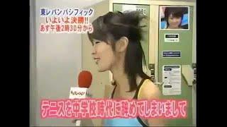 (女子アナ)川田亜子 - 透け透けテニスウェア 050205