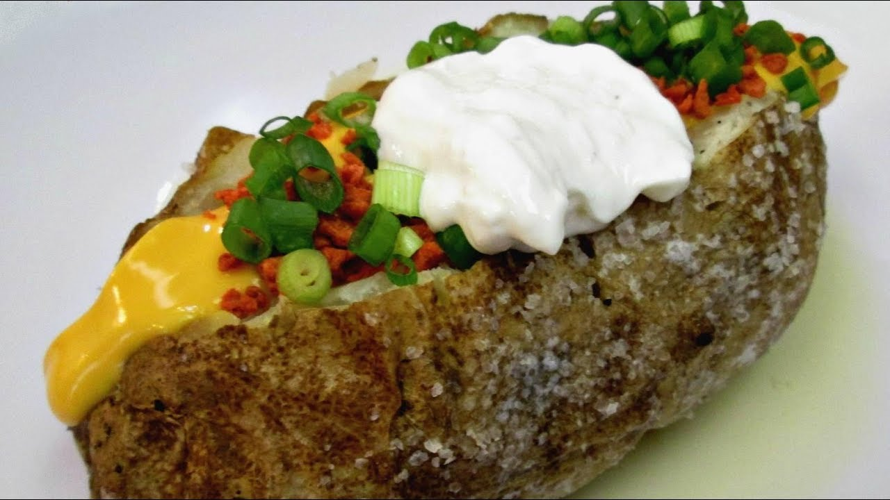 Clic Baked Potato Steak House Style Salted Recipe Poormansgourmet You