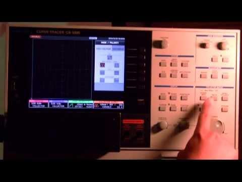 IWATSIU CS-3000 Curve Tracer 晶體曲線分析儀展示-完整版日中對照