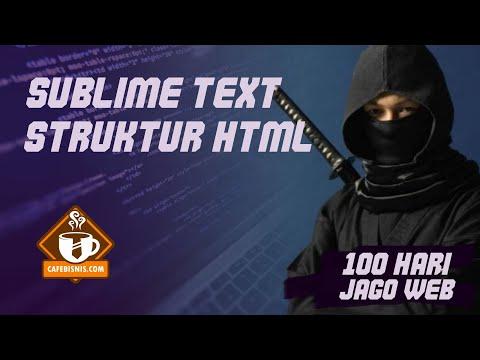 Sublime Text Dan Struktur HTML - Belajar Membuat Web (3/100)