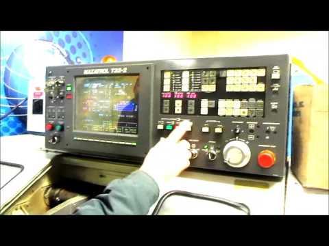 mazak qt 8 sp cnc turning center w mazatrol t32 2 controls rh youtube com