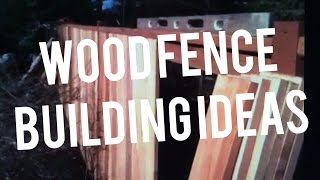 How To Build A Wooden Fence, Cedar Wood Pickets, Carpenter Instructions