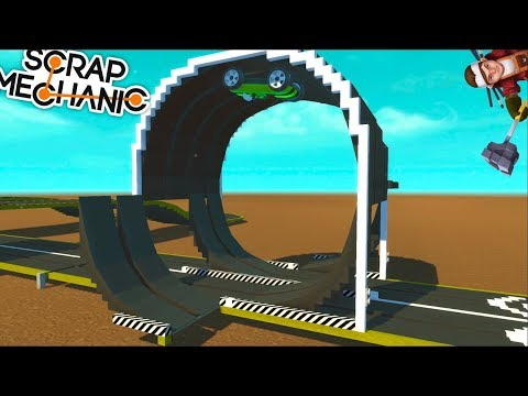 SCRAP MECHANIC CONSTRUIMOS UN SCALEXTRIC CON DOS LOOPINGS