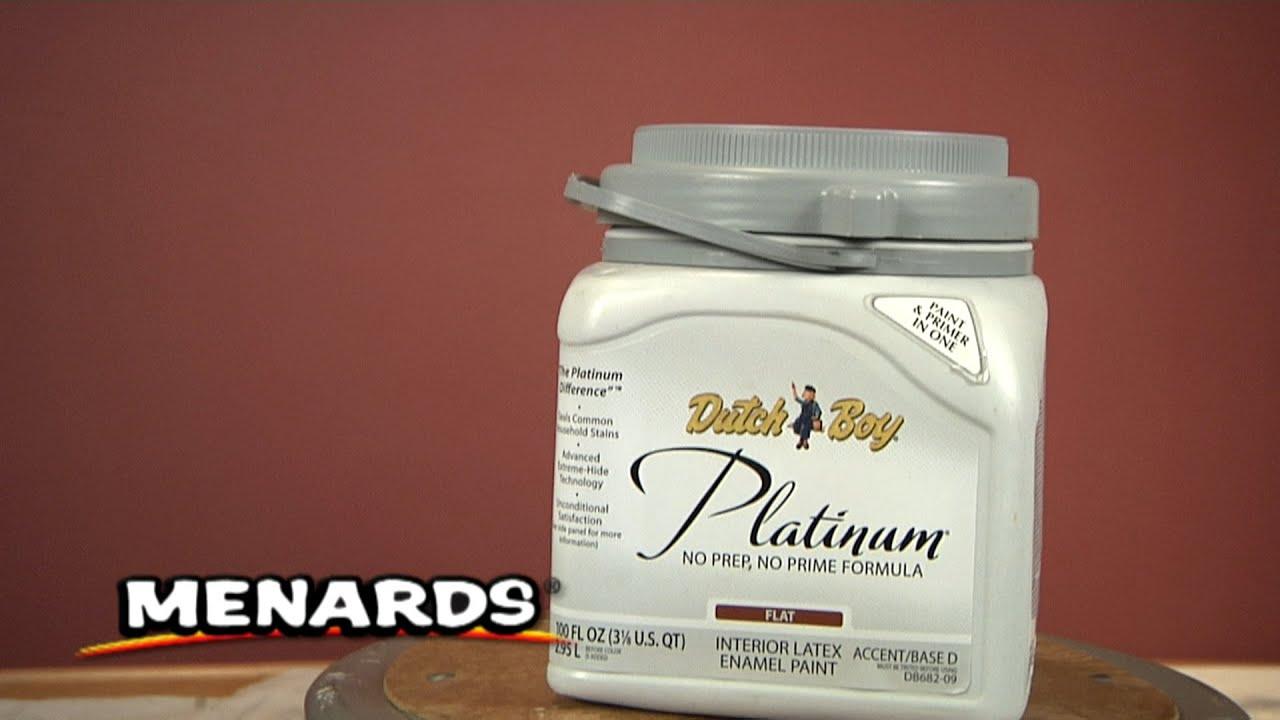 Menards Dutch Boy Platinum Paint Youtube