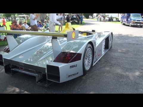 2000 Audi R8 LMP900 Start Up. Keeneland Concours 2015