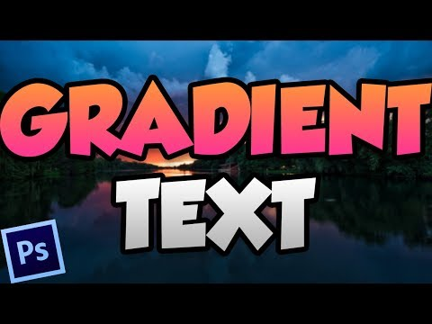 How To Make Gradient Text In Photoshop (Adobe Photoshop Tutorial) thumbnail