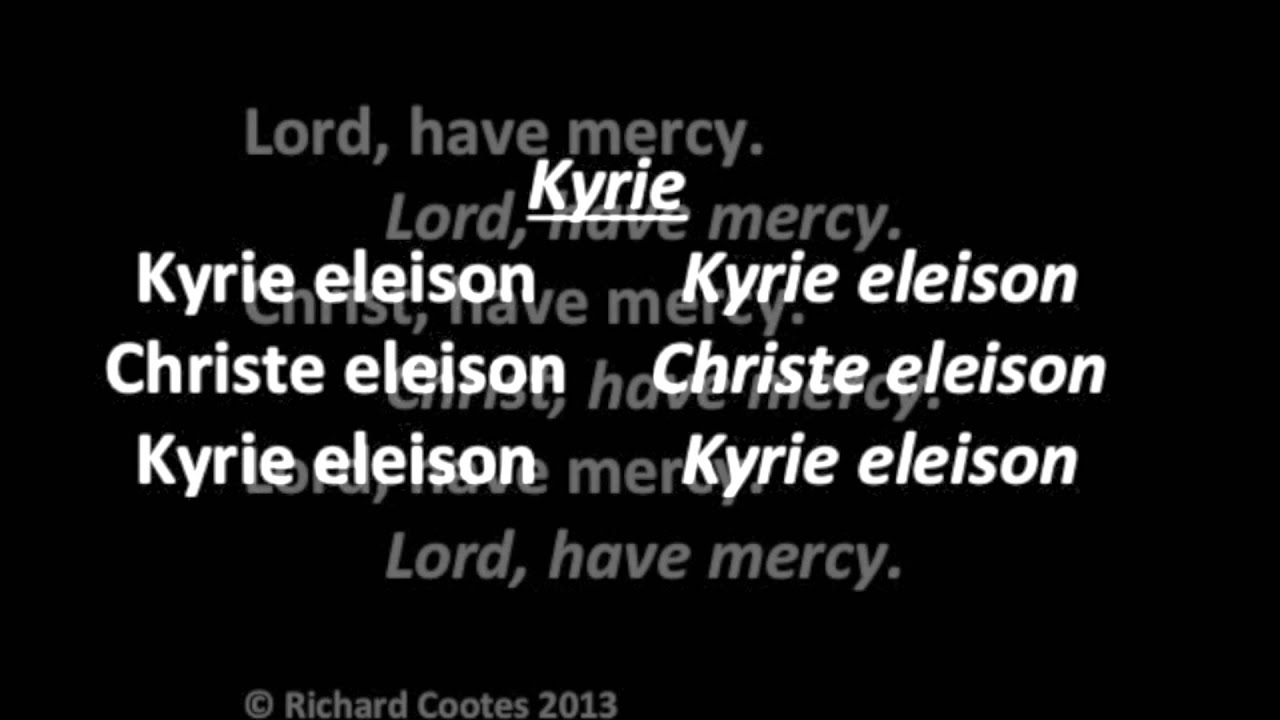 Mass of God's Mercy Kyrie (Lord Have Mercy)